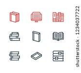 vector illustration of 9 book... | Shutterstock .eps vector #1234037722