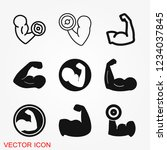 biceps icon  muscle strength or ...   Shutterstock .eps vector #1234037845