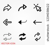 arrows icon. arrow for the... | Shutterstock .eps vector #1234038622