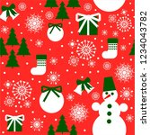 new year design. christmas... | Shutterstock .eps vector #1234043782
