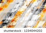 seamless urban geometric grunge ... | Shutterstock .eps vector #1234044202