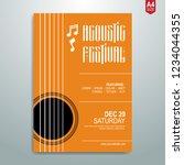minimalist music poster  flyer  ... | Shutterstock .eps vector #1234044355