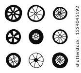 wheels silhouettes set vector... | Shutterstock .eps vector #1234045192