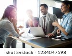 business colleagues having... | Shutterstock . vector #1234047598