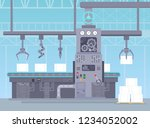 vector illustration of conveyor ... | Shutterstock .eps vector #1234052002