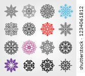 line snow icon set. collection... | Shutterstock .eps vector #1234061812