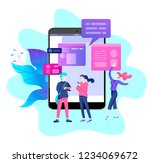 vector illustration  small... | Shutterstock .eps vector #1234069672