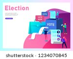 voting and election concept.... | Shutterstock .eps vector #1234070845