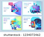 set of landing page templates... | Shutterstock .eps vector #1234072462