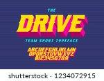 sport team font design ... | Shutterstock .eps vector #1234072915