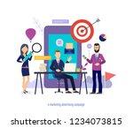 e marketing advertising...   Shutterstock .eps vector #1234073815