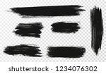 vector set of hand drawn brush... | Shutterstock .eps vector #1234076302