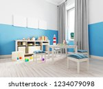 boy s bedroom interior with a... | Shutterstock . vector #1234079098