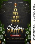christmas party poster with... | Shutterstock .eps vector #1234081462