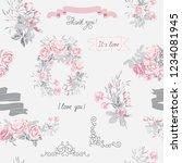 set of vector elements for... | Shutterstock .eps vector #1234081945