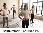 five attractive slim women... | Shutterstock . vector #1234086142