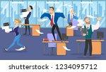deadline concept. idea of many... | Shutterstock .eps vector #1234095712