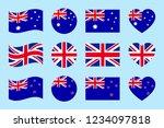 australia  great britain  new... | Shutterstock .eps vector #1234097818
