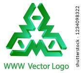 www logo design. vector... | Shutterstock .eps vector #1234098322