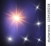 glow light effect. vector... | Shutterstock .eps vector #1234100218