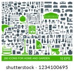 big set of quality icons... | Shutterstock .eps vector #1234100695