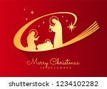 merry christmas banner sign... | Shutterstock .eps vector #1234102282