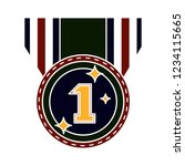 vector achievement medal badge... | Shutterstock .eps vector #1234115665