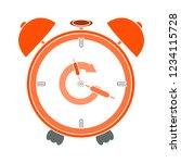 morning clock alarm isolated... | Shutterstock .eps vector #1234115728