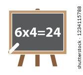vector teaching board... | Shutterstock .eps vector #1234115788