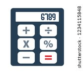 accounting calculator isolated... | Shutterstock .eps vector #1234115848