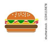 vector burger sandwich isolated ... | Shutterstock .eps vector #1234115878