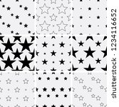 set of seamless star patterns. | Shutterstock .eps vector #1234116652