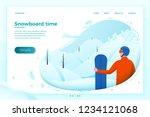 vector illustration    winter... | Shutterstock .eps vector #1234121068