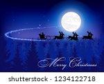 fantastic winter landscape on...   Shutterstock .eps vector #1234122718