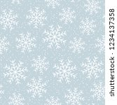this is a winter seamless... | Shutterstock .eps vector #1234137358