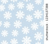 this is a winter seamless... | Shutterstock .eps vector #1234137388