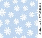 this is a winter seamless... | Shutterstock .eps vector #1234137445