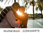 mature couple visiting tropical ... | Shutterstock . vector #1234144975