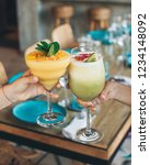 cocktails the the restaurant...   Shutterstock . vector #1234148092