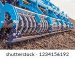 soil plow for preparation for... | Shutterstock . vector #1234156192