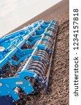 soil plow for preparation for... | Shutterstock . vector #1234157818