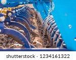 soil plow for preparation for... | Shutterstock . vector #1234161322
