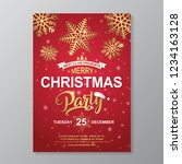 christmas party poster design... | Shutterstock .eps vector #1234163128