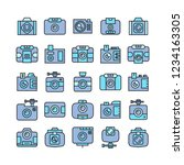 camera and video camera icons ... | Shutterstock .eps vector #1234163305