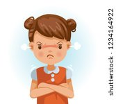 angry little girl. child in a... | Shutterstock .eps vector #1234164922