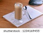 latte macchiato with coffee and ...   Shutterstock . vector #1234169455