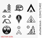vector camping icon to use for... | Shutterstock .eps vector #1234171402