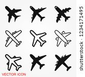 plane icon on white background  ... | Shutterstock .eps vector #1234171495