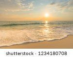 soft sea waves and bubbles on... | Shutterstock . vector #1234180708