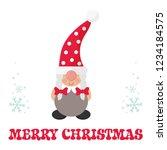 cartoon christmas gnome girl... | Shutterstock .eps vector #1234184575